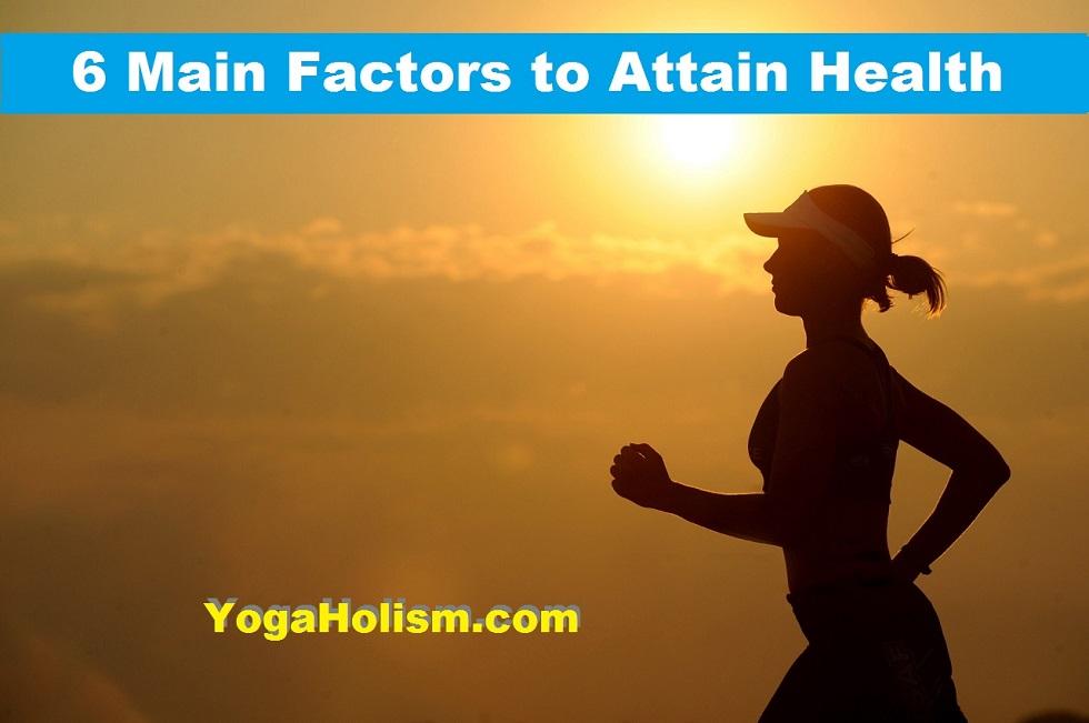 6 main factors to attain health