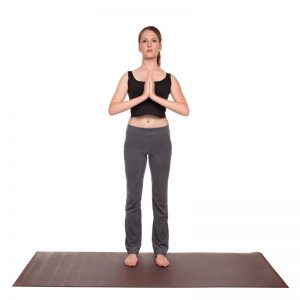 Prayer pose step