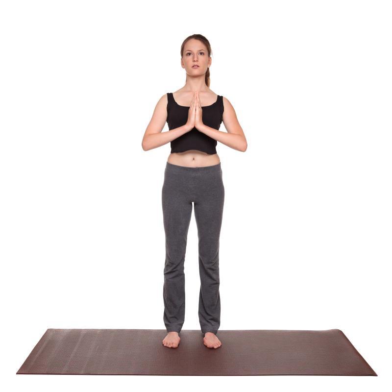 Prayer pose step