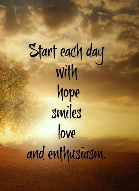 Start everyday with positive note