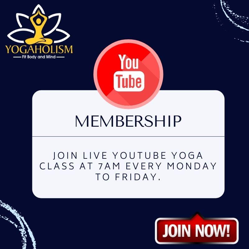 Yogaholism Youtube membership